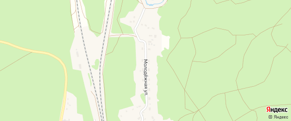 Молодежная улица на карте станции Озерки с номерами домов