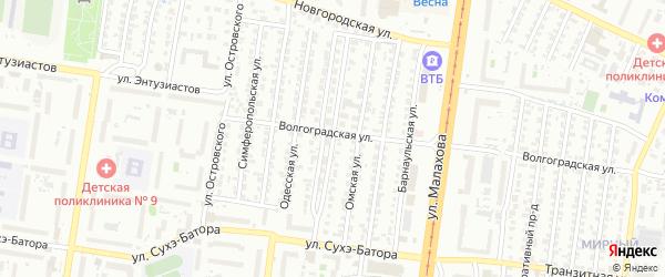 Севастопольская улица на карте Барнаула с номерами домов