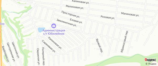 Малиновая улица на карте садового некоммерческого товарищества Алтая с номерами домов
