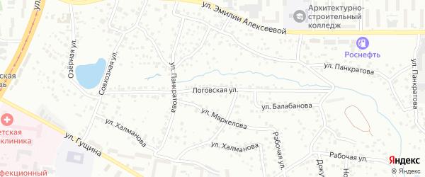 Логовская улица на карте Барнаула с номерами домов