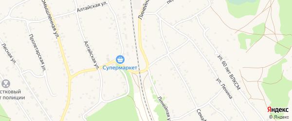 Линейная улица на карте станции Озерки с номерами домов