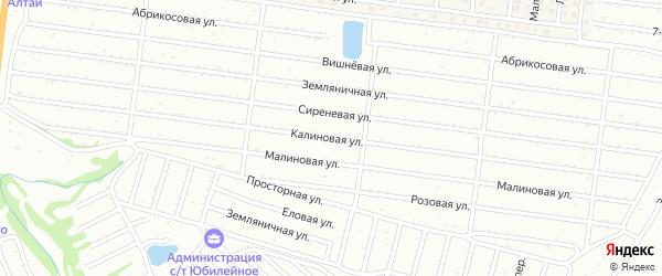 Калиновая улица на карте садового некоммерческого товарищества Алтая с номерами домов