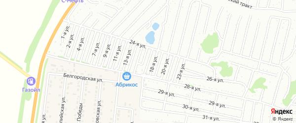 Семнадцатая улица на карте садового некоммерческого товарищества Дорожника с номерами домов
