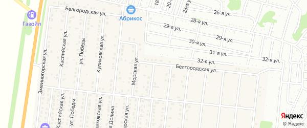 Белгородская улица на карте поселка Бельмесево с номерами домов