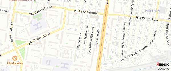 Улица Тюленина на карте Барнаула с номерами домов