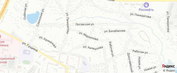 Улица Маркелова на карте Барнаула с номерами домов