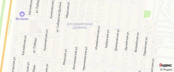 Черноморская улица на карте поселка Бельмесево с номерами домов