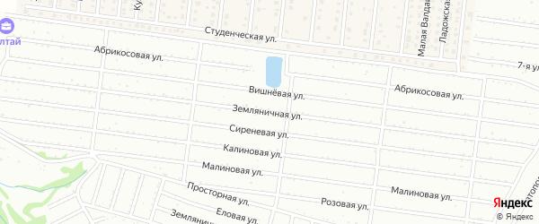 Земляничная улица на карте садового некоммерческого товарищества Алтая с номерами домов