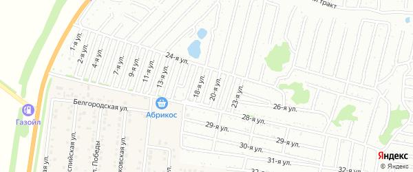 Девятнадцатая улица на карте садового некоммерческого товарищества Дорожника с номерами домов