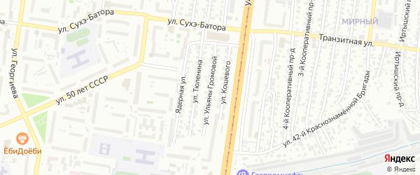 Улица Ульяны Громовой на карте Барнаула с номерами домов