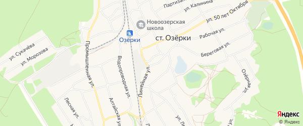 Карта станции Озерки в Алтайском крае с улицами и номерами домов