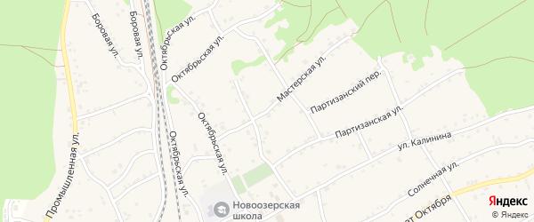 Мастерская улица на карте станции Озерки с номерами домов