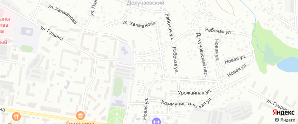 Улица Рубусина на карте Барнаула с номерами домов