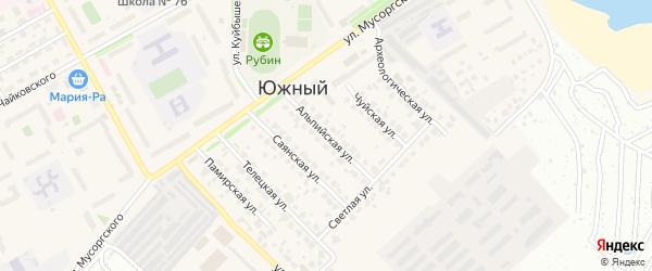 Альпийская улица на карте Южного поселка с номерами домов