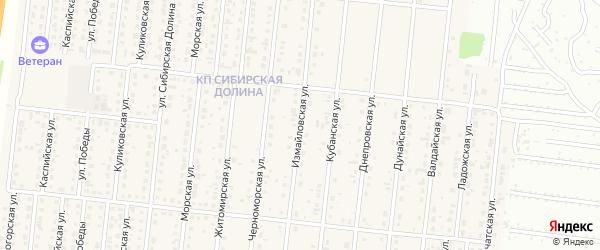 Измайловская улица на карте поселка Бельмесево с номерами домов