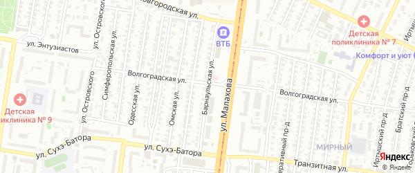 Барнаульская улица на карте Барнаула с номерами домов