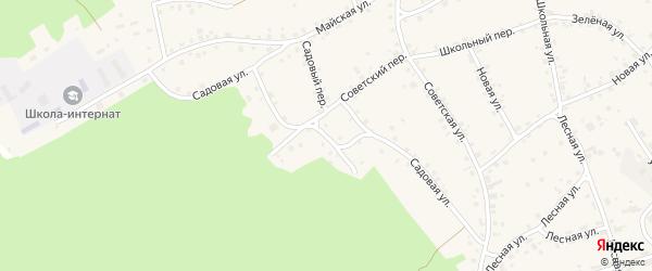 Садовая улица на карте села Озерков с номерами домов