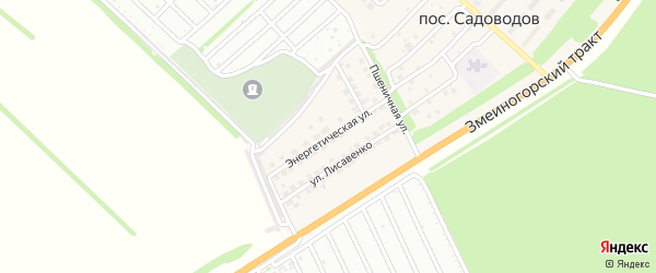 Энергетическая улица на карте поселка Садоводова с номерами домов