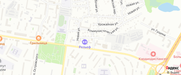 Опытная улица на карте Барнаула с номерами домов