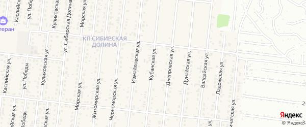 Кубанская улица на карте поселка Бельмесево с номерами домов