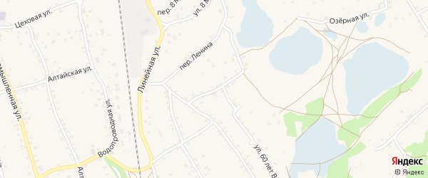 Переулок Ленина на карте станции Озерки с номерами домов