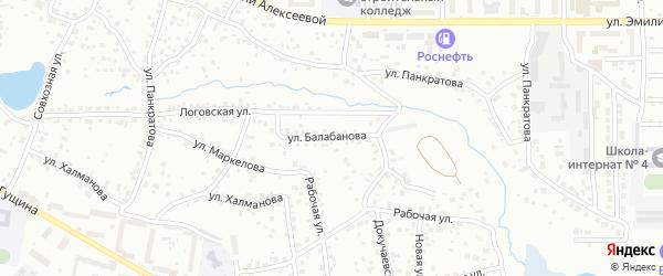 Улица Балабанова на карте Барнаула с номерами домов