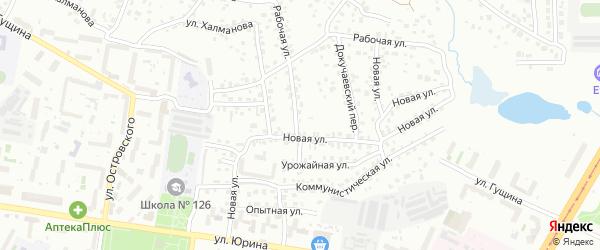 Рабочая улица на карте садового некоммерческого товарищества N 3 с номерами домов