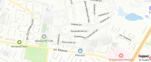 Урожайная улица на карте Барнаула с номерами домов