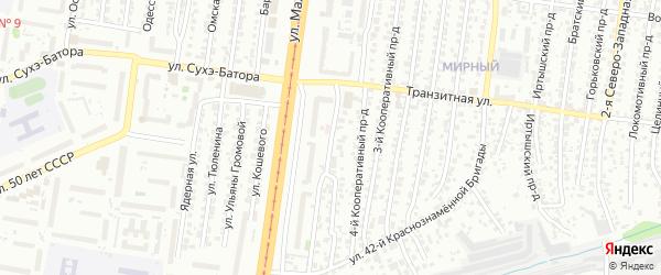 Кооперативный 5-й проезд на карте Барнаула с номерами домов