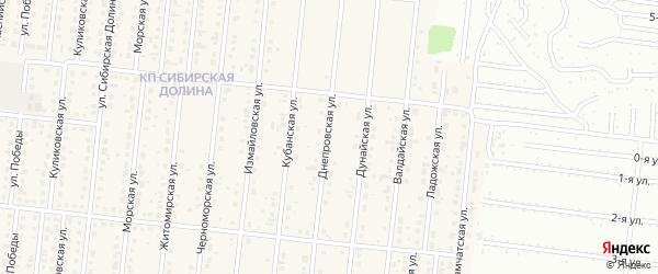 Днепровская улица на карте поселка Бельмесево с номерами домов