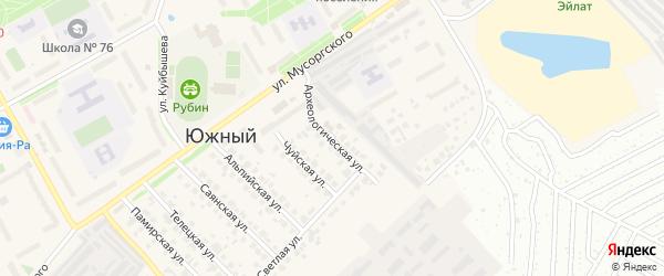 Археологическая улица на карте Южного поселка с номерами домов