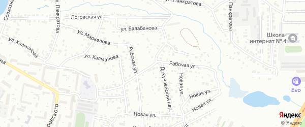 Рабочая улица на карте Барнаула с номерами домов
