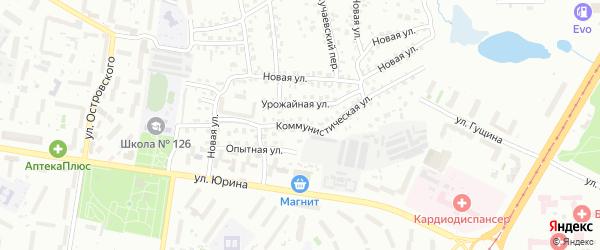 Коммунистическая улица на карте Барнаула с номерами домов