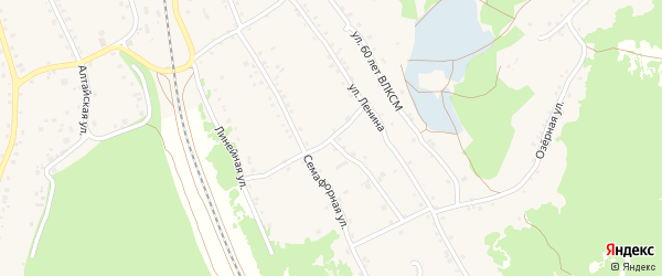 Семафорная улица на карте станции Озерки с номерами домов