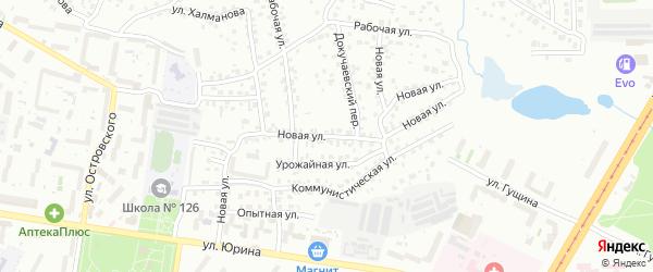 Новая улица на карте Барнаула с номерами домов