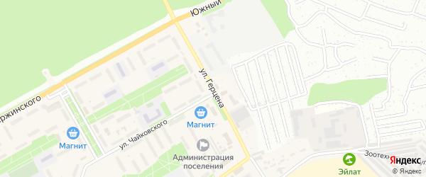 Улица Герцена на карте Южного поселка с номерами домов