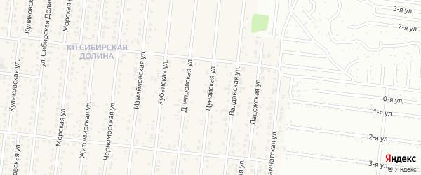 Дунайская улица на карте поселка Бельмесево с номерами домов
