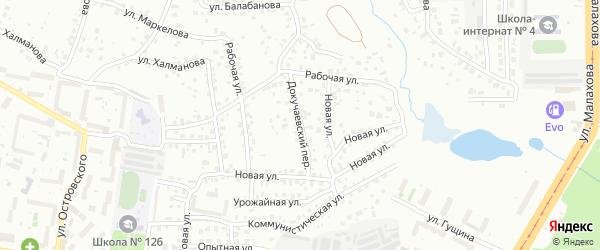 Докучаевский переулок на карте Барнаула с номерами домов