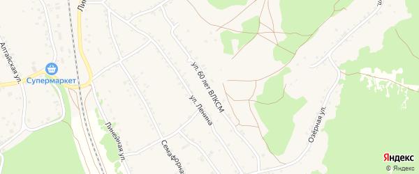 Улица 60 лет ВЛКСМ на карте станции Озерки с номерами домов