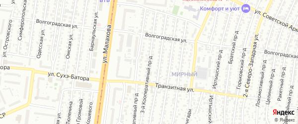 Кооперативный 3-й проезд на карте Барнаула с номерами домов