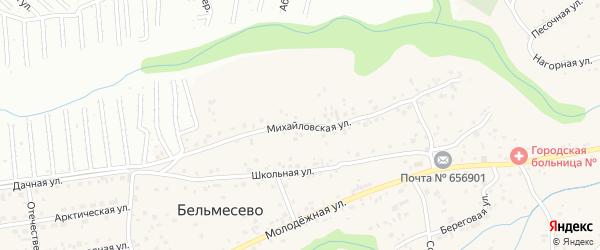 Михайловская улица на карте поселка Бельмесево с номерами домов