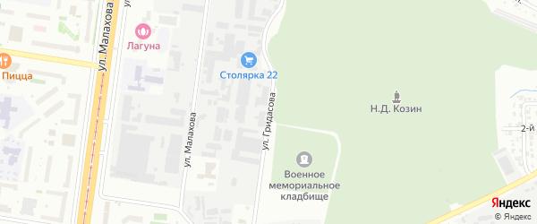Улица Гридасова на карте Барнаула с номерами домов