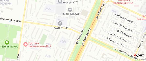 Улица Георгия Исакова на карте Барнаула с номерами домов
