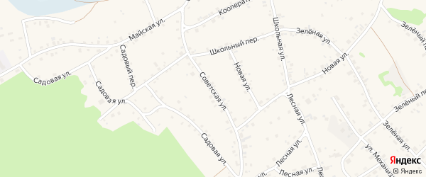 Советская улица на карте села Озерков с номерами домов