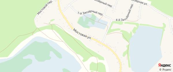 Мостовая улица на карте села Озерков с номерами домов