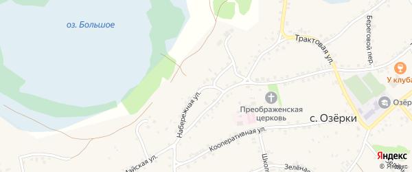 Набережная улица на карте села Озерков с номерами домов