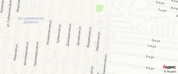 Валдайская улица на карте поселка Бельмесево с номерами домов