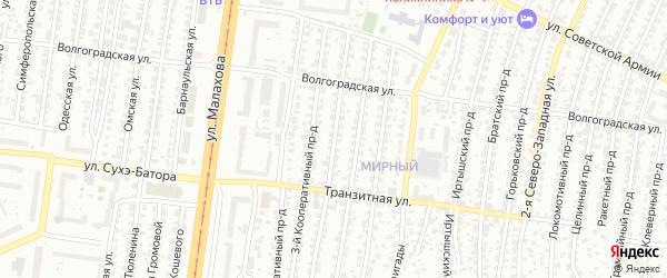 Кооперативный 2-й проезд на карте Барнаула с номерами домов