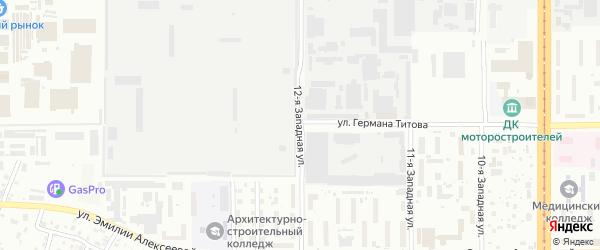 12-я улица на карте территории стд Дизеля с номерами домов