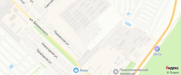 Памирский проезд на карте Южного поселка с номерами домов
